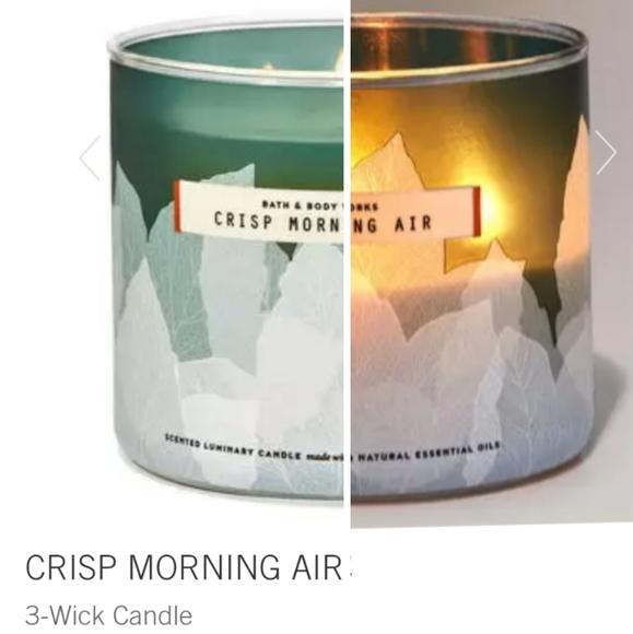 "🕯NWT‼️ BBW ""Crisp Morning Air"" 3-wick Candle"